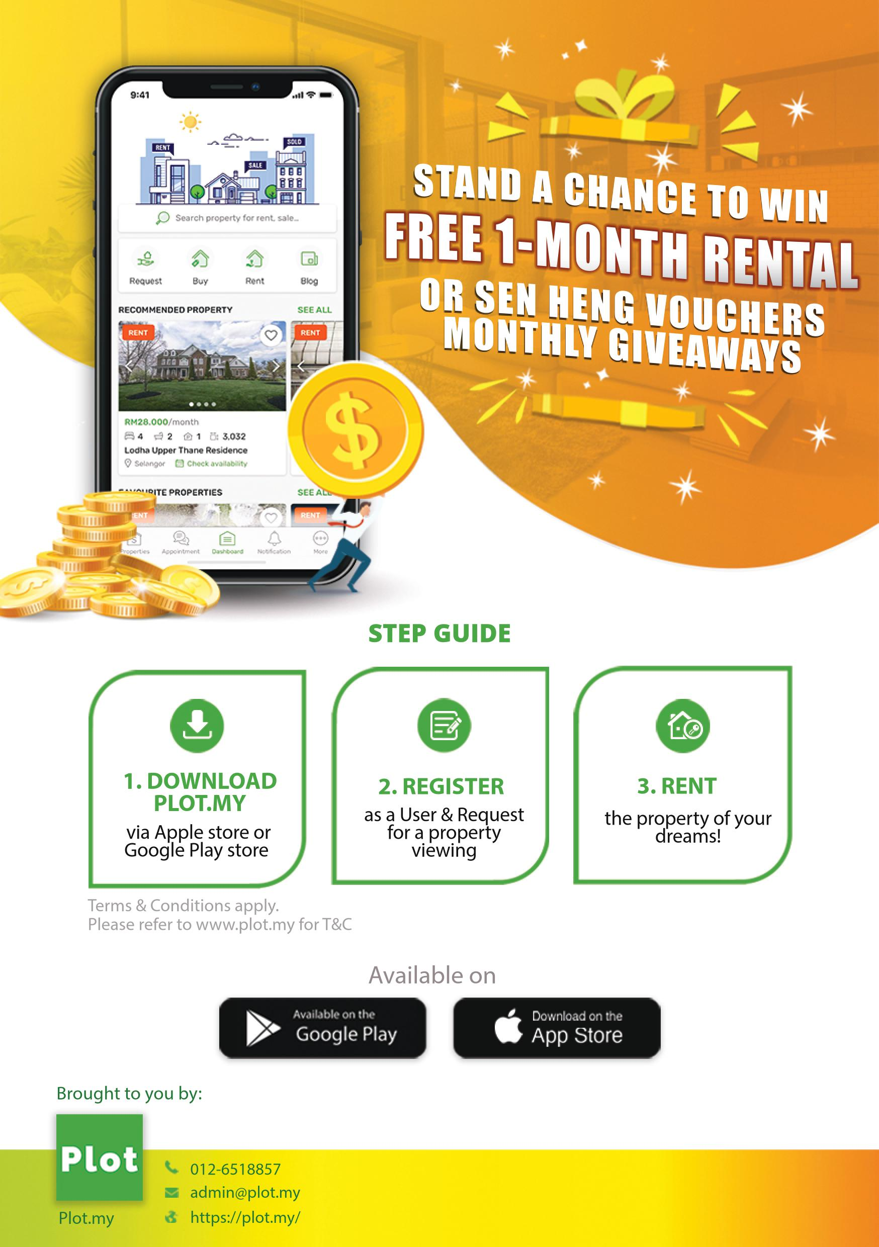 RENT and WIN 1-month Rental